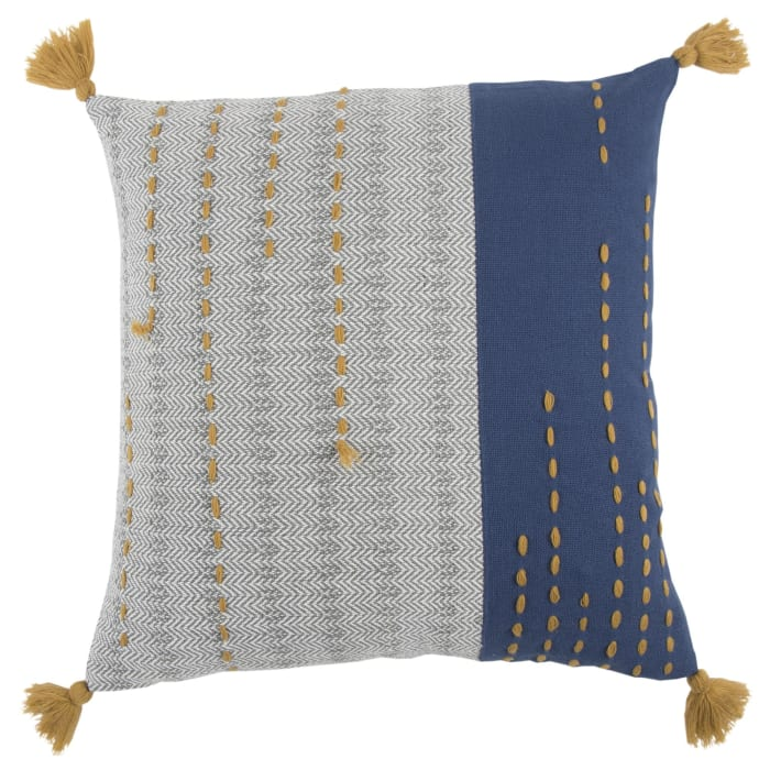 Stripe Gray/Blue Pillow Cover