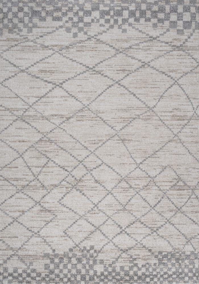 Asilah Moroccan Modern Diamond Light Gray 4 ft. x 6 ft. Area Rug