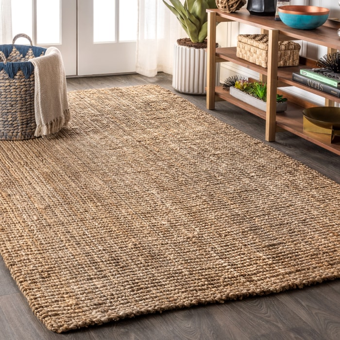 Pata Hand Woven Chunky Jute Natural 5 ft. x 8 ft. Area Rug