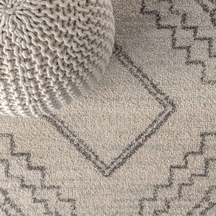 Amir Moroccan Beni Souk Cream/Gray 8 ft. x 10 ft. Area Rug