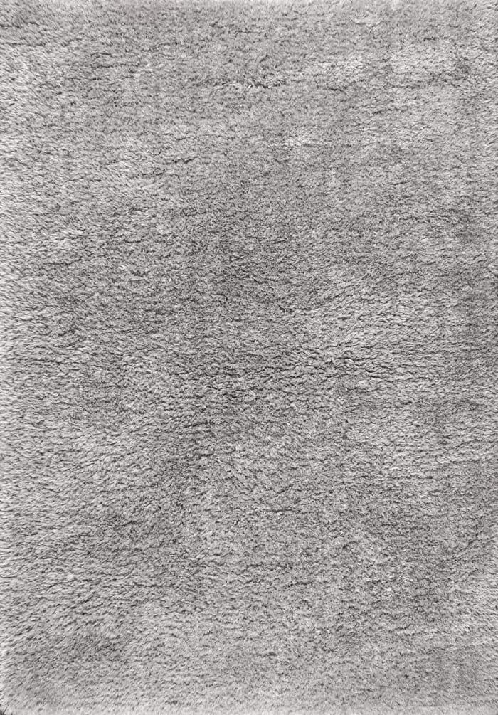 Solid Plush Shag Gray Area Rug