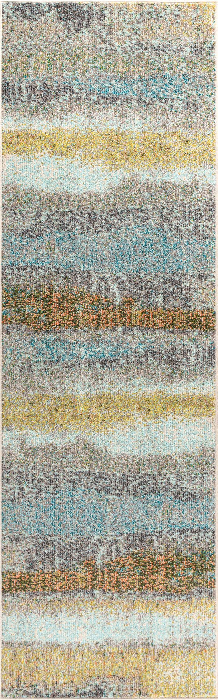 Contemporary POP Modern Abstract Vintage Cream/Yellow Runner Rug