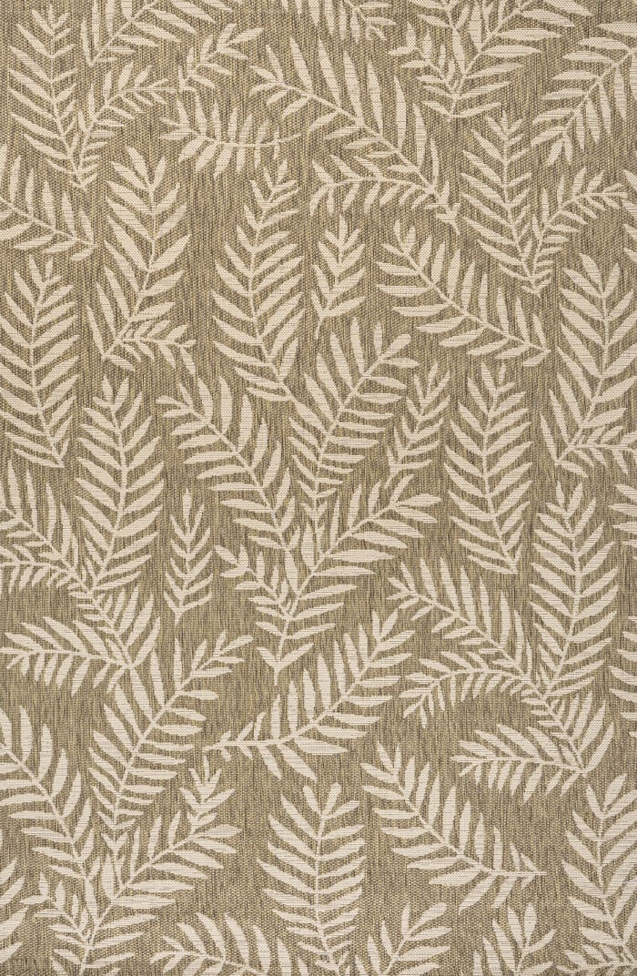 Nevis Palm Frond Indoor/Outdoor Brown/Beige 4 ft. x 6 ft. Area Rug