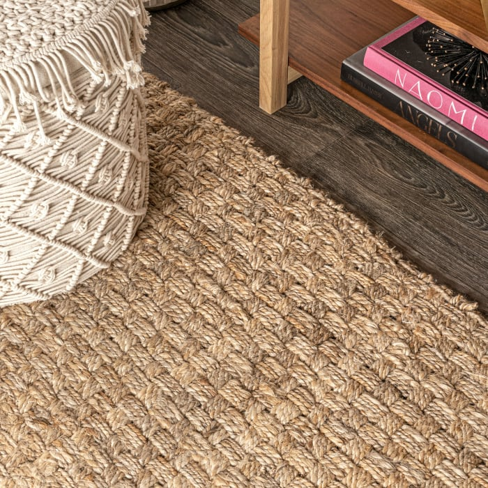 Hand Woven Boucle Chunky Jute Natural Area Rug