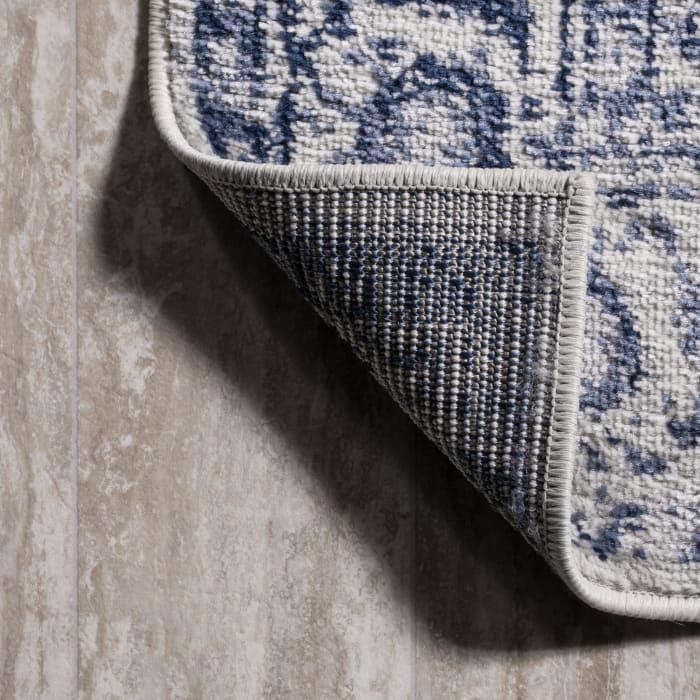Cottage Medallion Navy/Ivory Area Rug