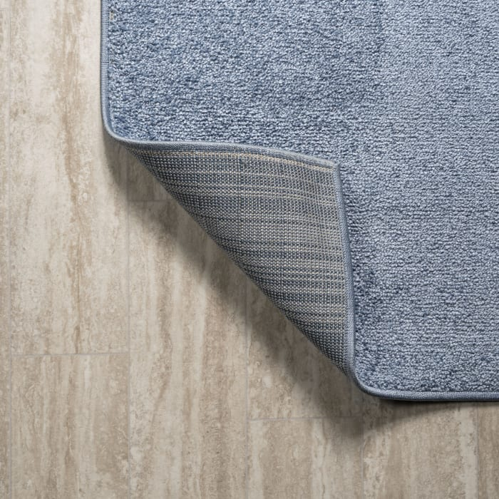 Haze Solid Low-Pile Classic Blue 2 ft. x 8 ft. Runner Rug