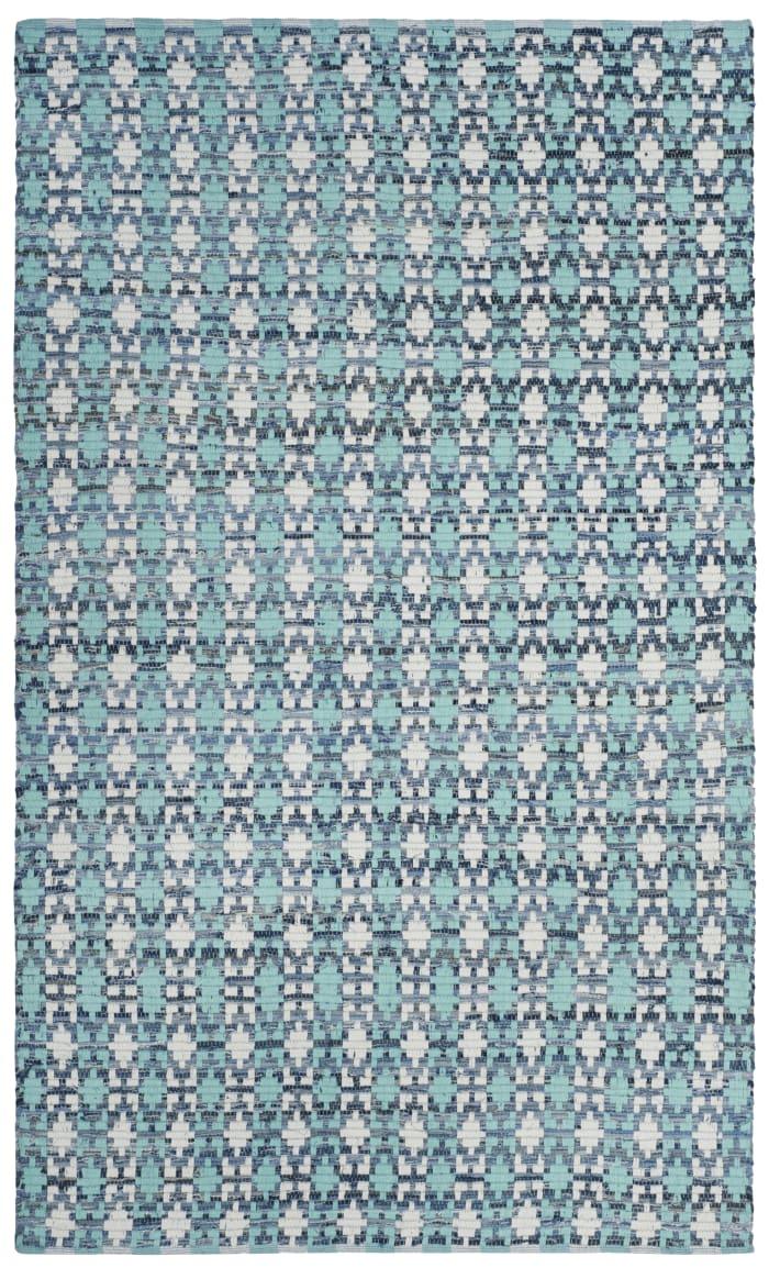 Altman 123 6' X 9' Turquoise Cotton Rug