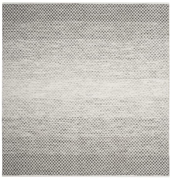 Altman 601 6' X 6' Square Gray Cotton Rug