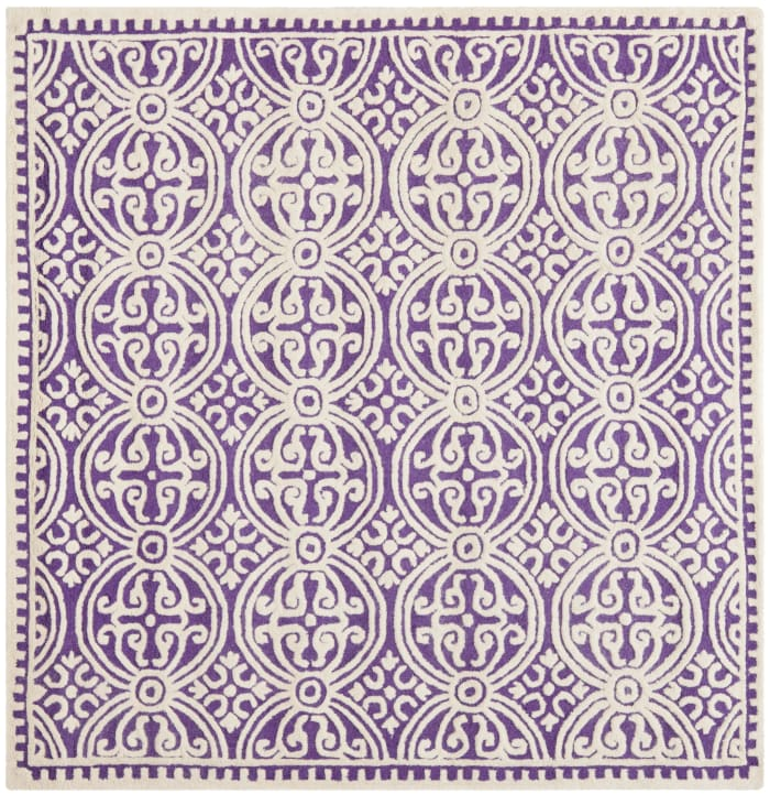 Benson 123 8' X 8' Square Purple Rug