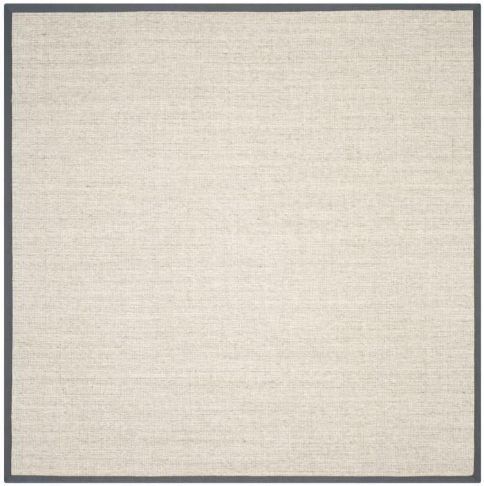 Danford 441 8' X 8' Square Gray Jute Rug