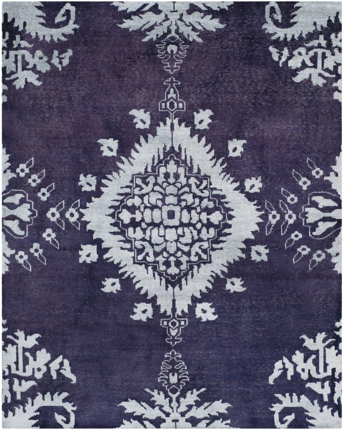 Delphine 4' X 6' Purple Wool Rug