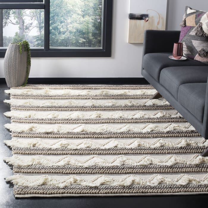 Chipley 901 6' X 6' Square Ivory Wool Rug