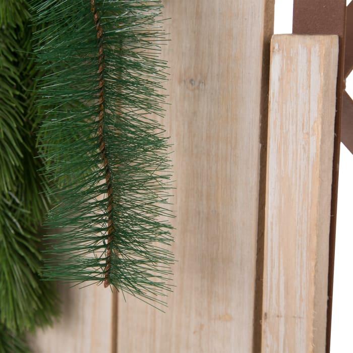 Natural Christmas Sleigh Wall Decor