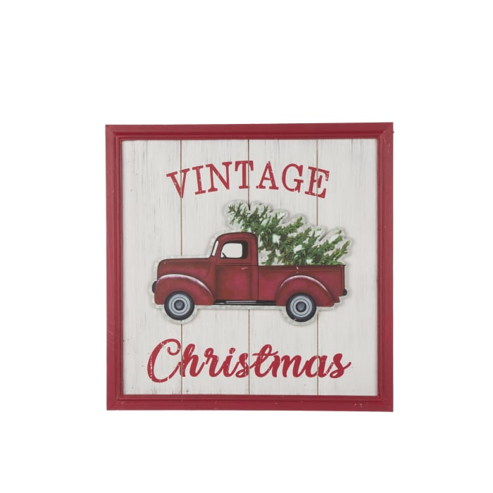 Vintage-Style Christmas Truck Wall Decor