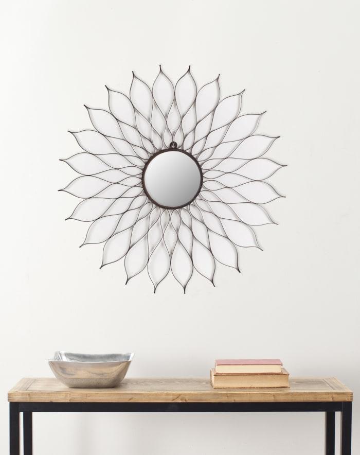 Shannon Espresso Iron & Glass Mirror