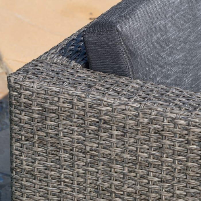 Black & Gray 9-Piece Wicker Set