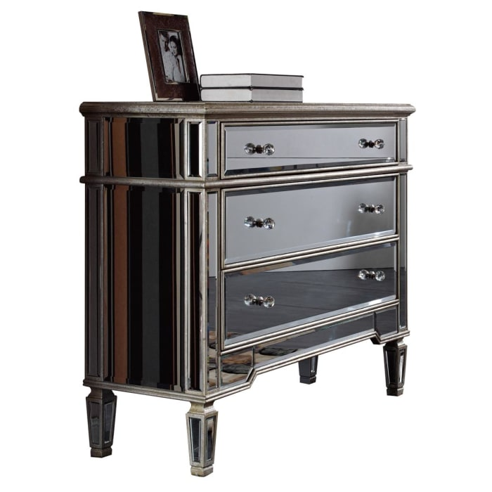 Mirrored Silver Cabinet