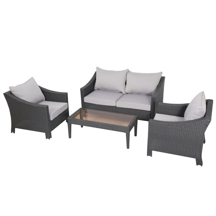 Gray 4-Piece Chat Set