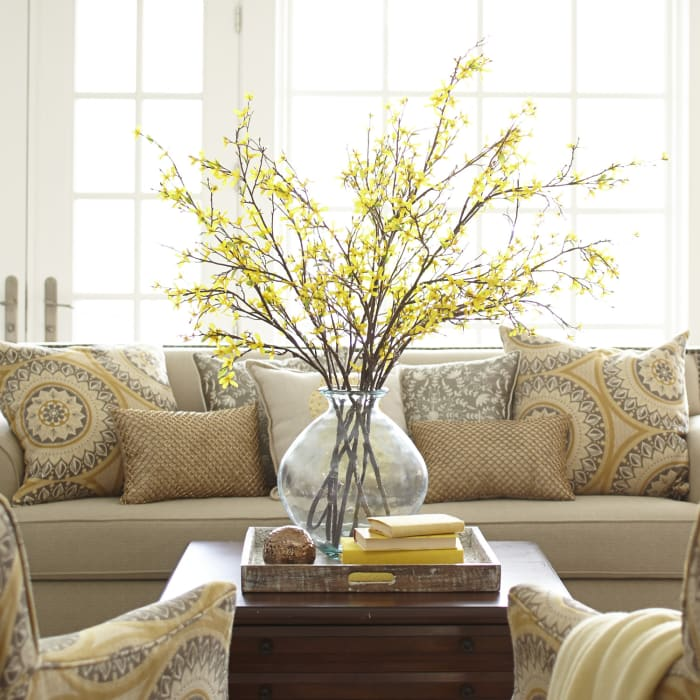 Yellow Faux Forsythia Branch