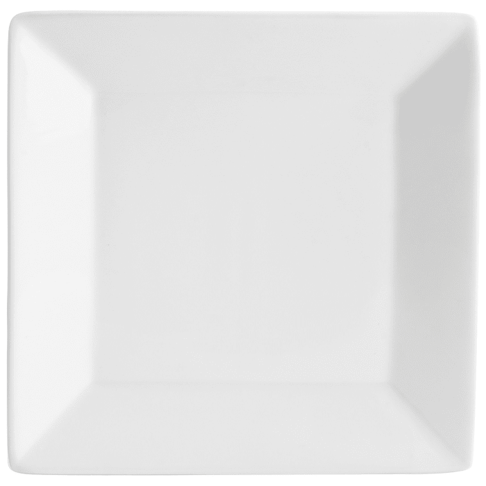 Luminous Porcelain Square White Appetizer Plate