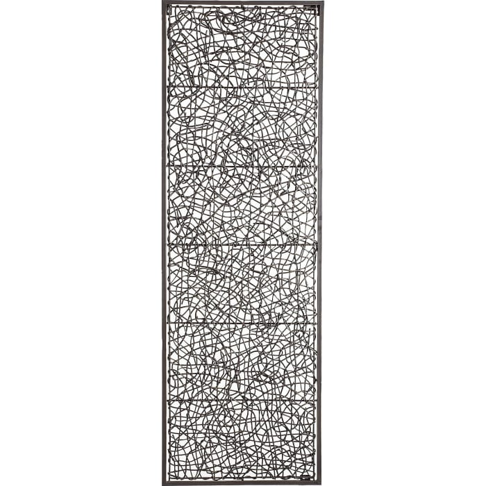 Metal & Rattan Wall Decor