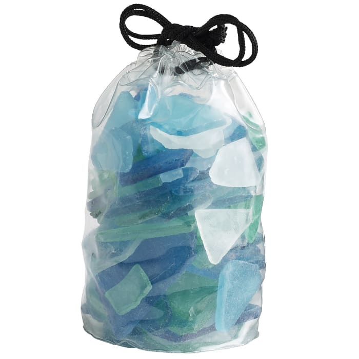 Teal Seaglass Mix Vase Filler