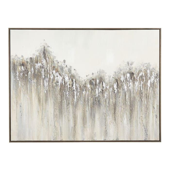 Raked Glitter Abstract Art
