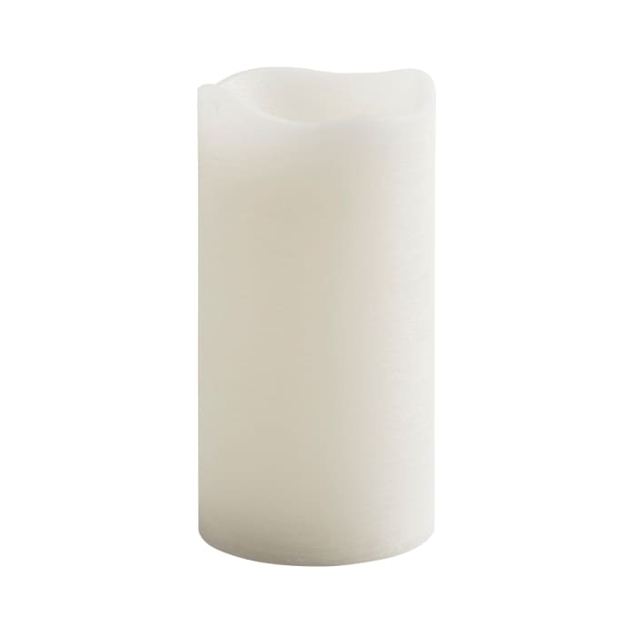 Deco Wick™ LED White 4x8 Pillar Candle