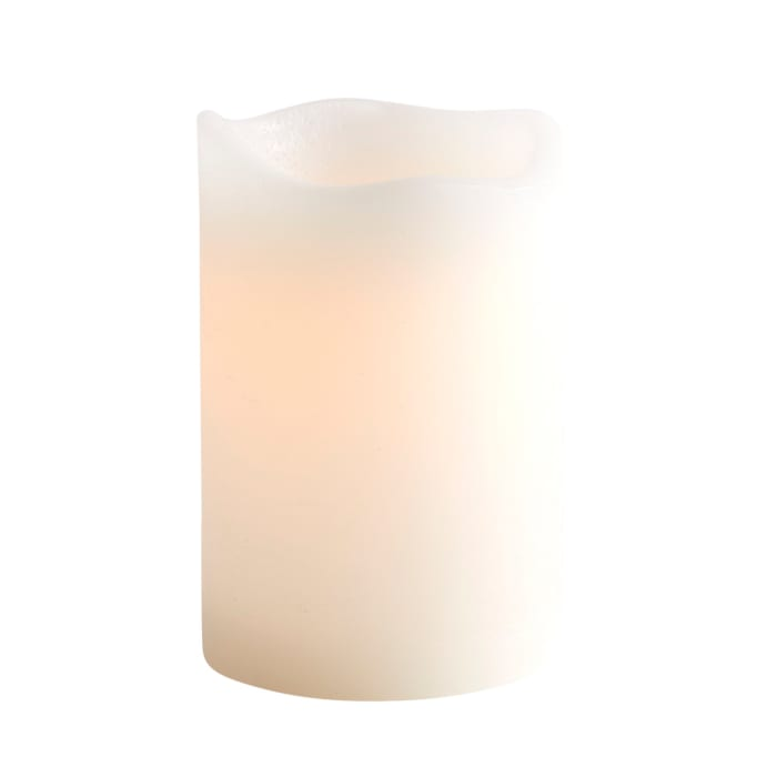 Deco Wick™ LED White 4x6 Pillar Candle