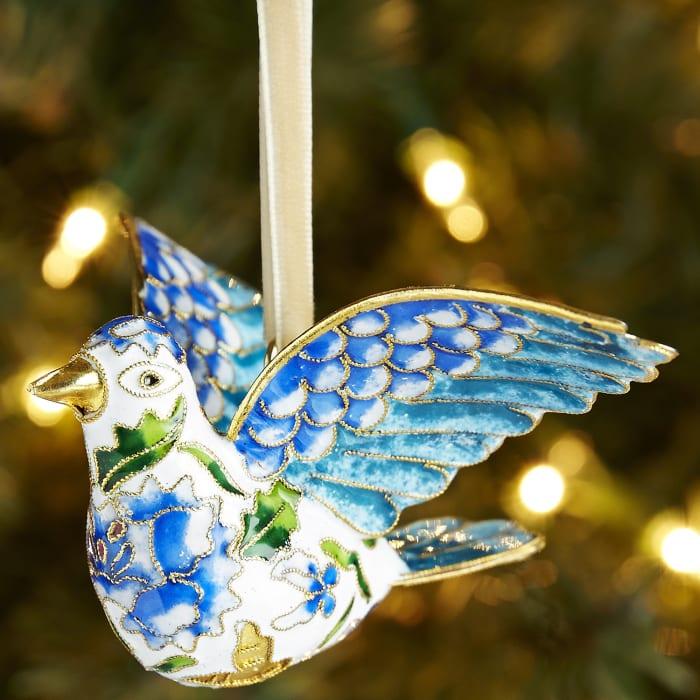 Cloisonne Dove Ornament