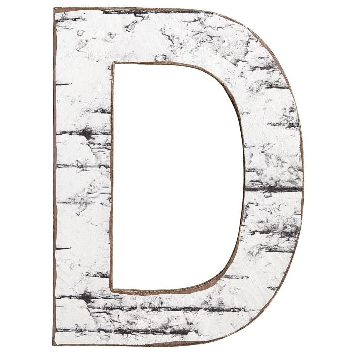 Weathered Letter Wall Decor - D