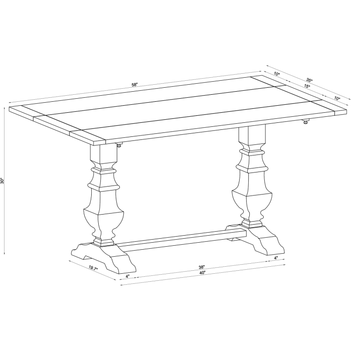 Bradding Drop Leaf Natural Stonewash Dining Table Pier 1