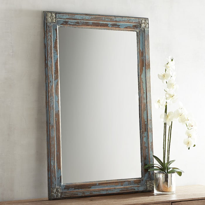 Misty Blue Wash 32x48 Mirror