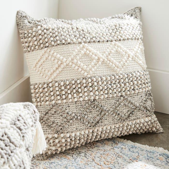 Magnolia Home Joslin Oversized Gray & Ivory Pillow