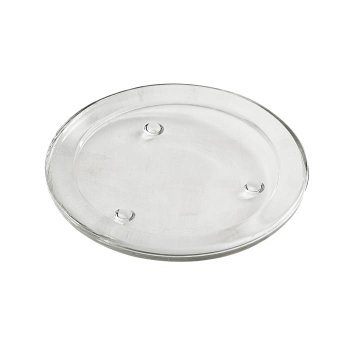 Clear Glass Pillar Candle Plate