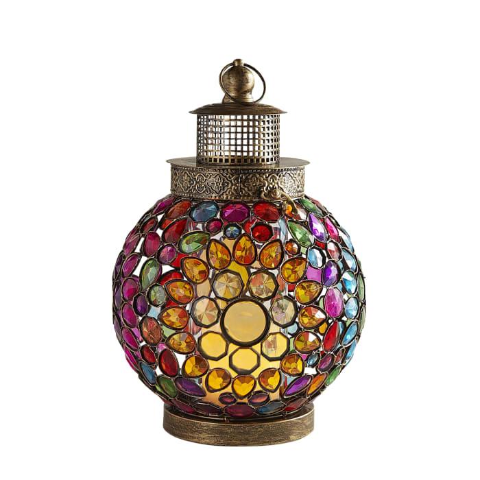 Gem Caravan Multicolor Large Round Lantern