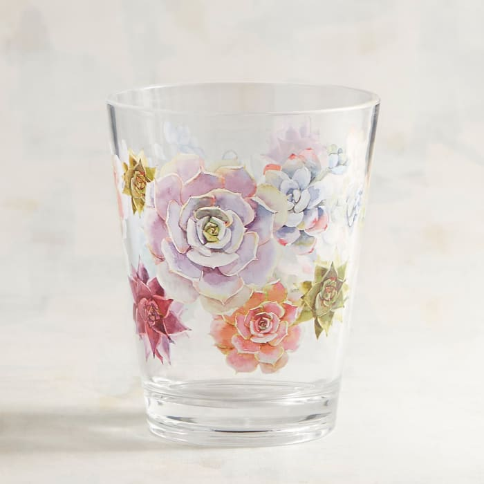 Succulent Acrylic Double Old Fashioned Tumbler