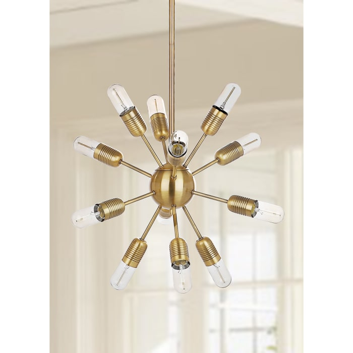 Round 12-Light Gold Pendant Light