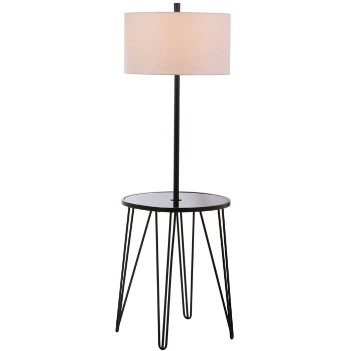 Floor Lamp with Accent Table