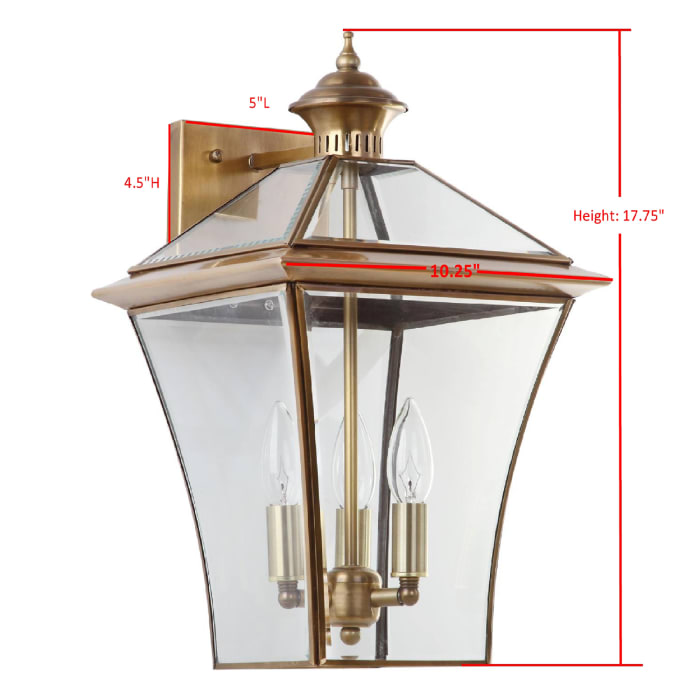 Virginia Brass Large Wall Sconce