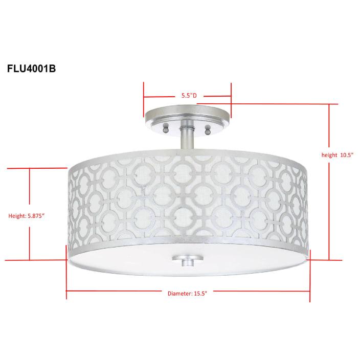 Silver Link Flush Mount Pendant Light
