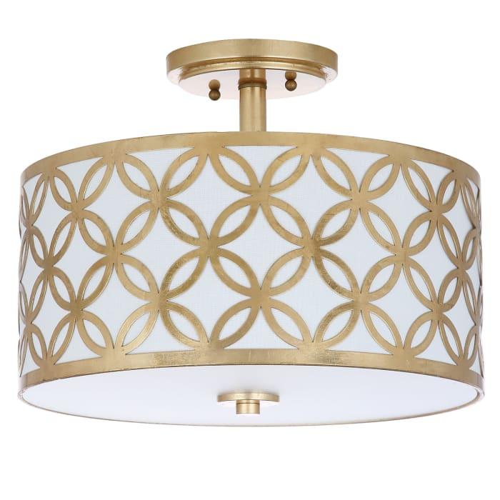 Gold Petal Flush Mount Pendant Light