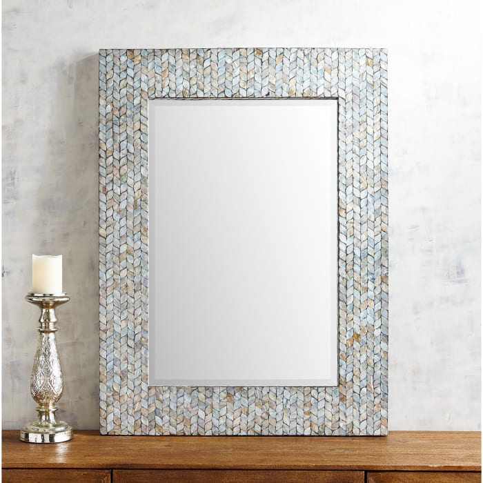Shimmering Mother-of-Pearl Mirror