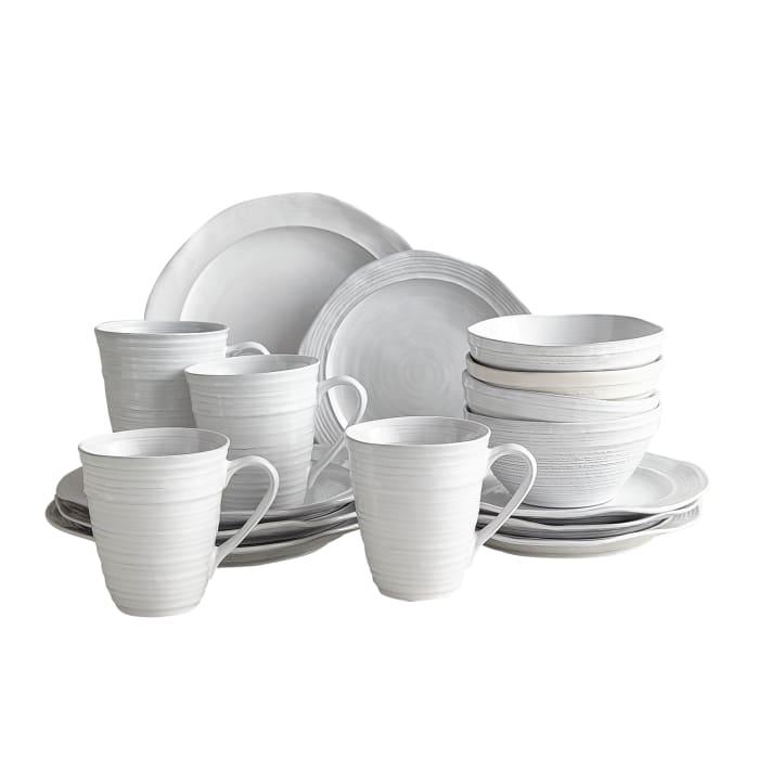 Midori White 16-Piece Dinnerware Set