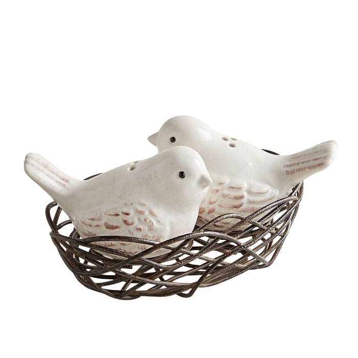 Bird Nest Salt & Pepper Shaker Set