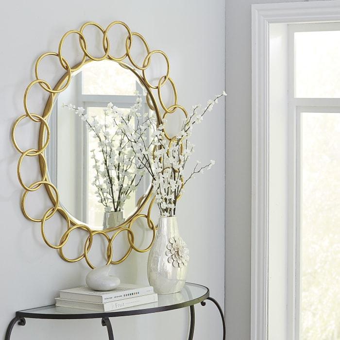 Golden Rings Mirror