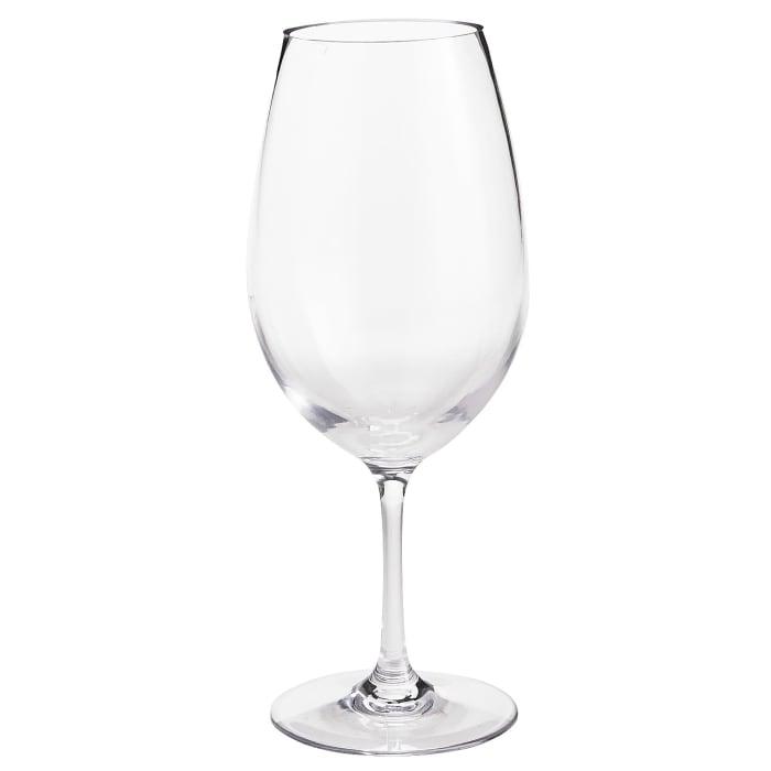 Clarity Clear Acrylic White Wine Glass