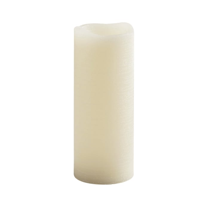 LED 3x8 Ivory Distressed Pillar Candle