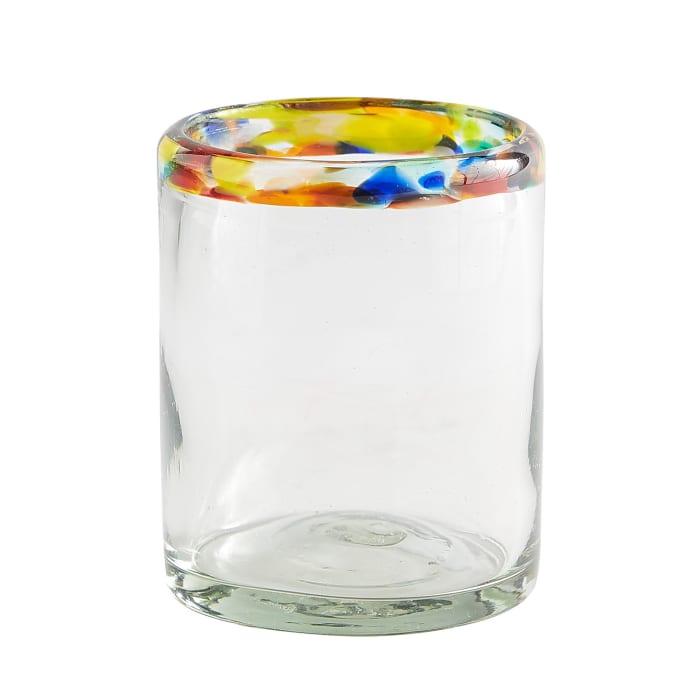 Confetti Rim Double Old Fashioned Glass