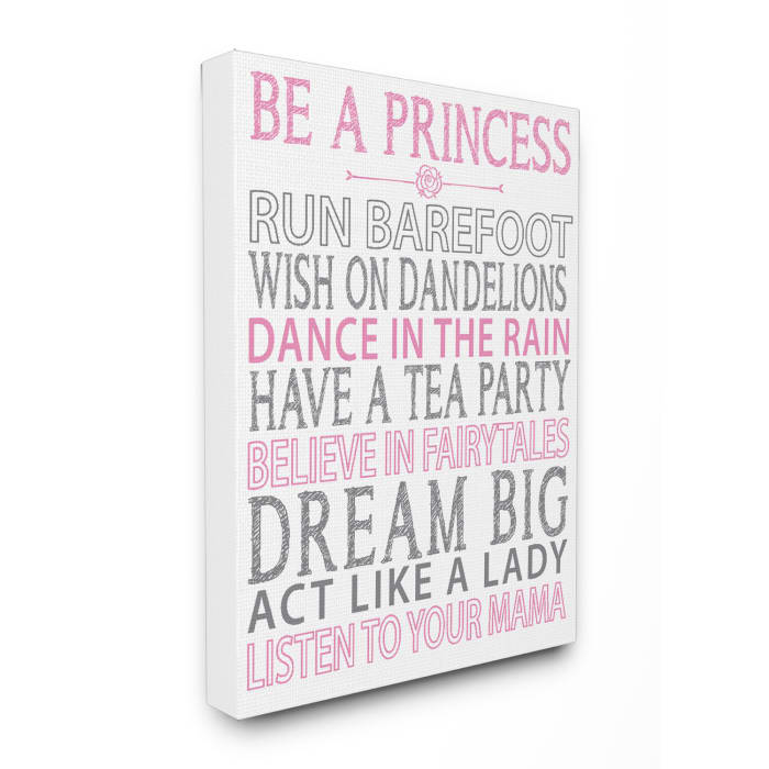 Princess Dreams Oversized Stretched Canvas Wall Art
